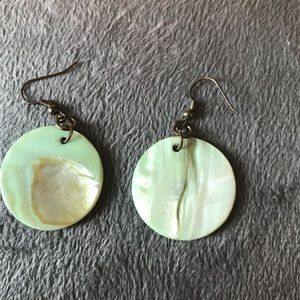 Jewelry - Mint Shell Earrings